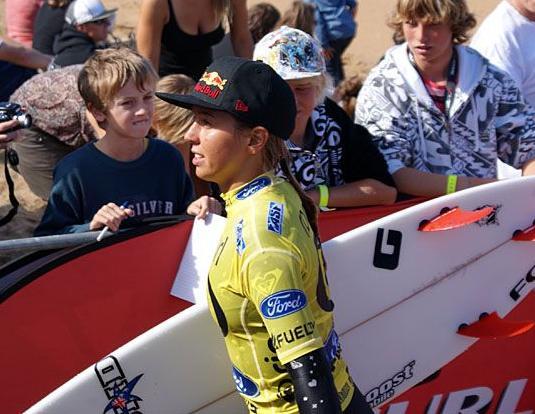 A australiana Slly Fitzgibbons que eliminou a brasileira Jacqueline Silva