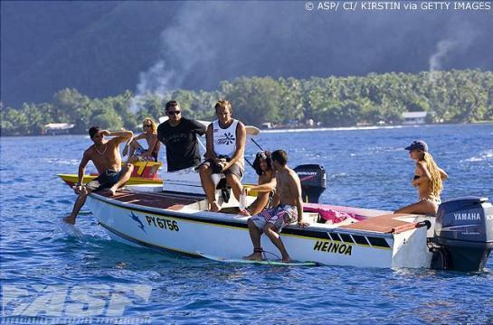 O barco dos brasileiros